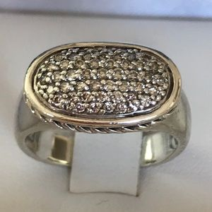 Authentic David Yurman Ring w/lots Pave Diamonds